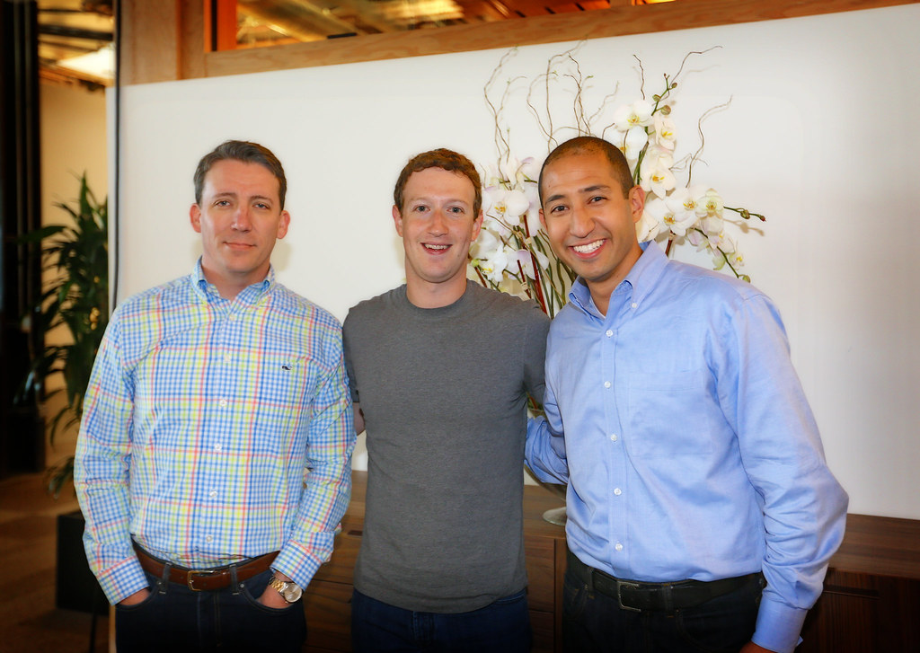 Ramsey Mohsen and Eric Hazen meet Mark Zuckerberg