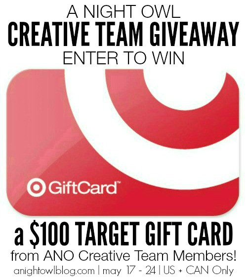 A Night Owl Team Giveaway - Enter to win 1 $100 Target Gift Card!