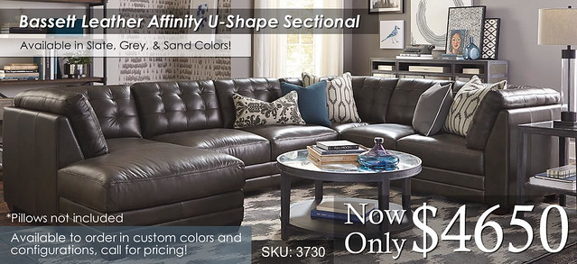Affinity Bassett U Shape Sectional 3730