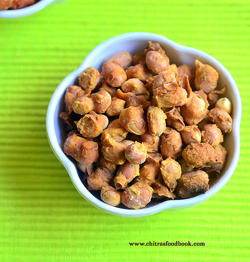 Microwave masala peanuts recipe