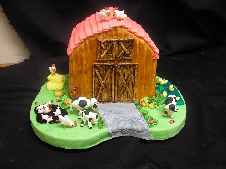Cakeaters Edible Arts : barnyard cake Cakeaters Edible Art Flickr