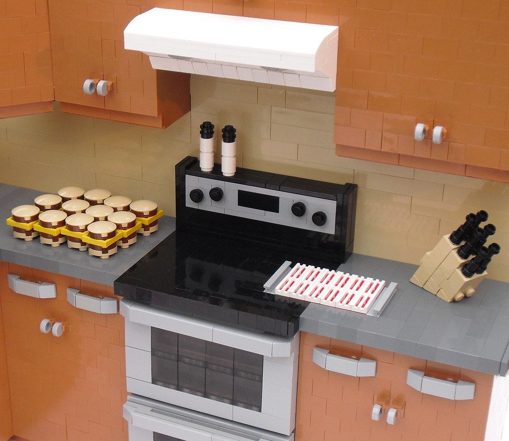 Small Kitchen With Dark Brown Tile