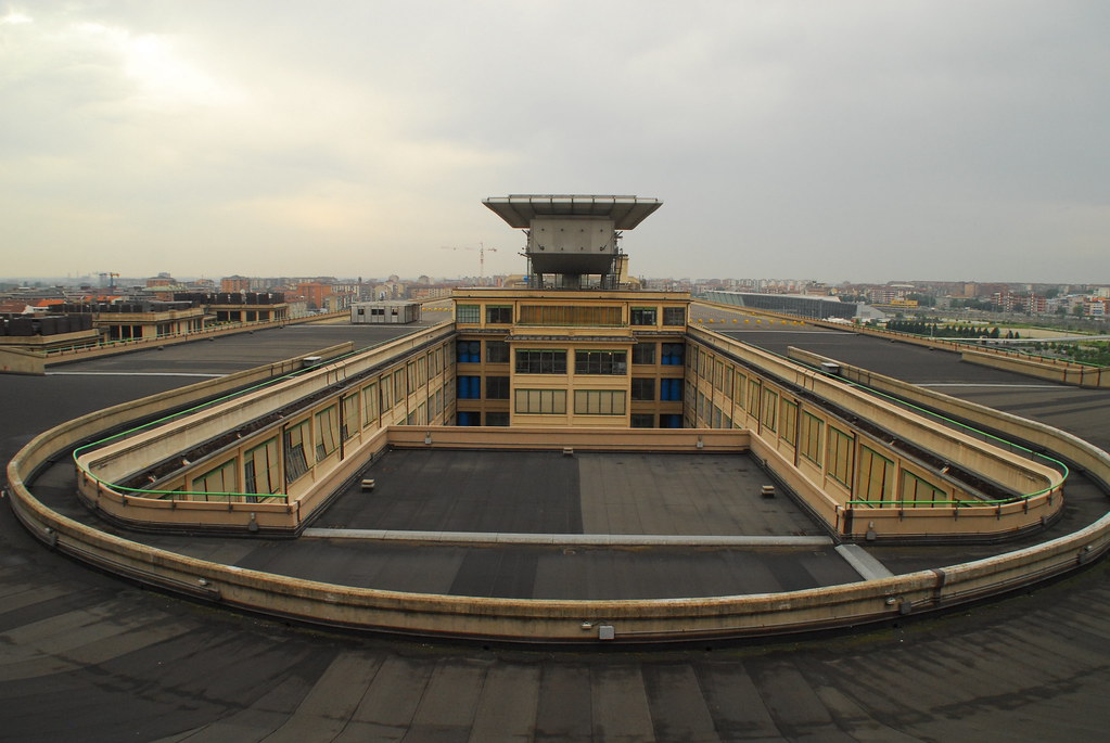 Test Track On The Roof Of Old Fiat Lingotto Factory Turin