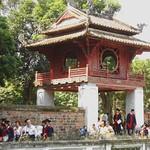 Graduates and gateway, Temple of Literature, Hanoi, Vietnam, 7 October 2013