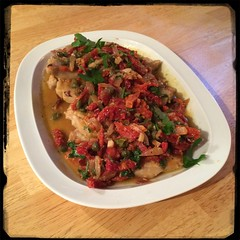 #homemade Pork Chops w/ Sun-Dried Tomatoes & Capers - #CucinaDelloZio