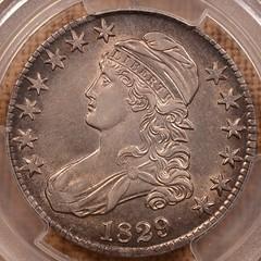 1829 50C AU Details OBV