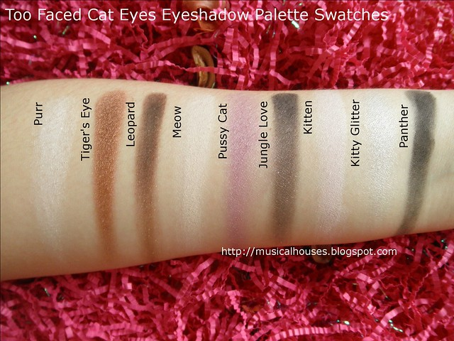 Too Faced Cat Eyes Eyeshadow Palette Swatches