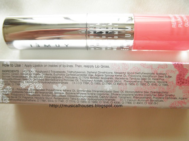 BonjourHK Yu Mei Flawless Triple Action Lip Reshaping Lipstick Lipgloss Ingredients