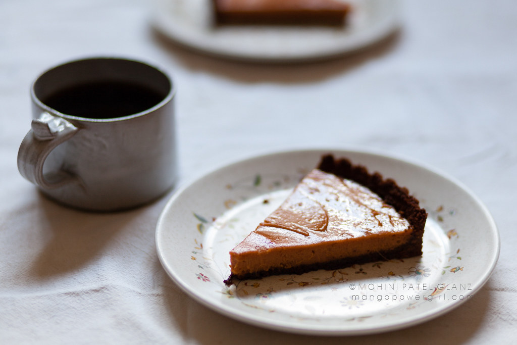 coffee & a slice of sweet potato tart