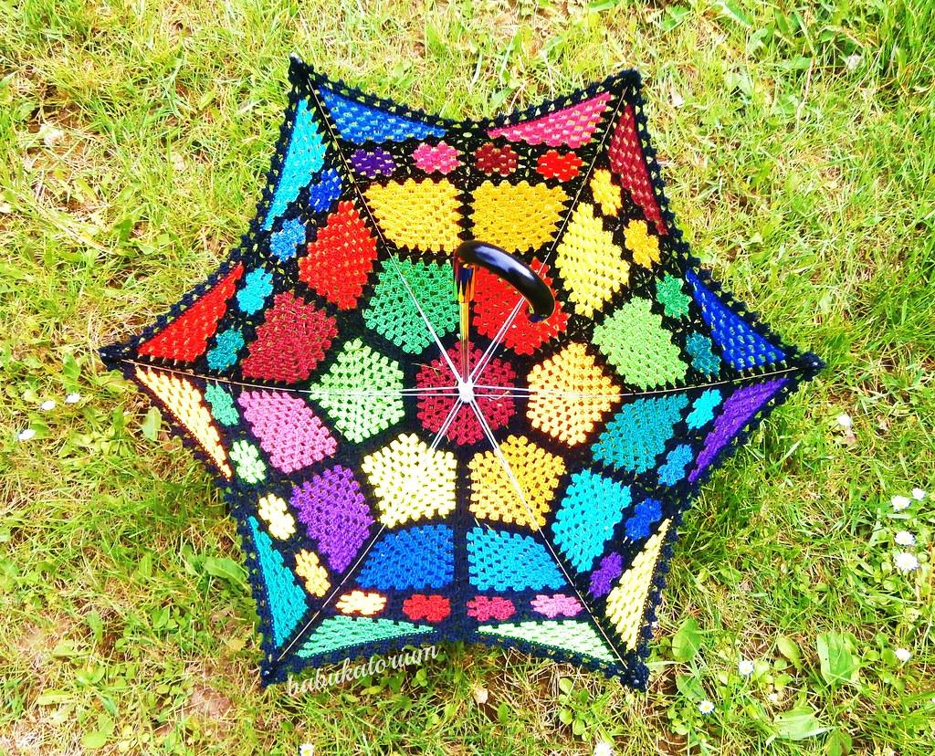 Crochet Umbrella Granny Mosaic Sunbrella I Think Vogue