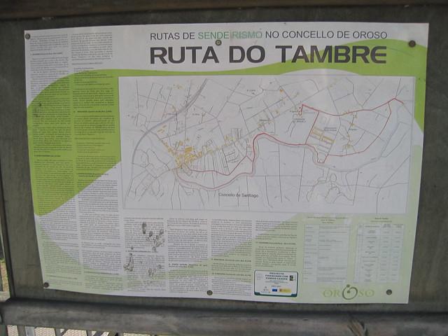 Panel Informativo de la ruta del Tambre en Sigüeiro