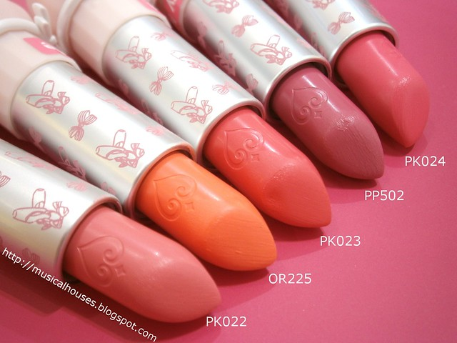 Etude House Dreaming Swan Dear My Wish Lips Talk Lipsticks Close