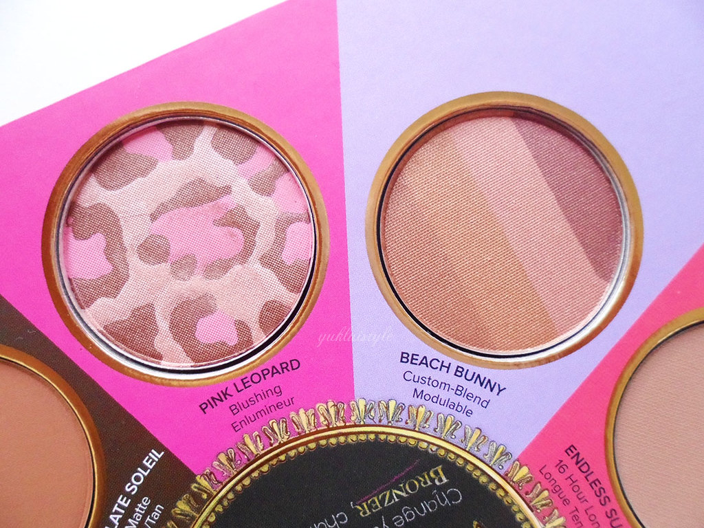 Too Faced The Little Black Book of Bronzers review pink leopard beach bunny