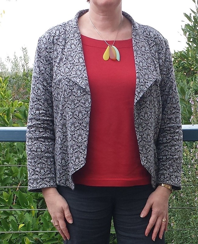 Grainline Morris Blazer with Liesl + Co Maritime top