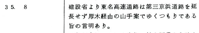 第三京浜建設誌から東名との関連部分