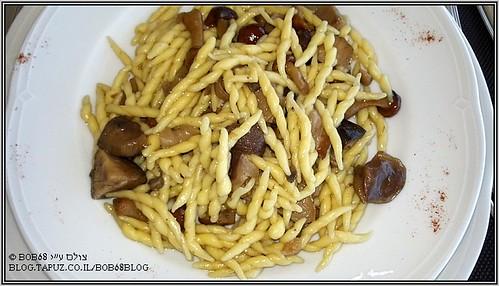Trofie ai funghi misti מנה של ה-אוכל בסיציליה