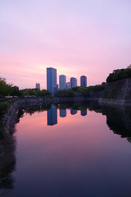 大阪城西外堀