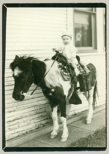 Small child on a horse
