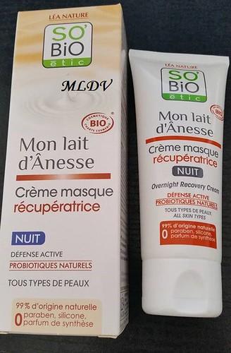 crème masque récupératrice so'bio etic