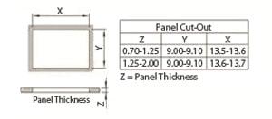 Rocker Switch Panel Cut-Out