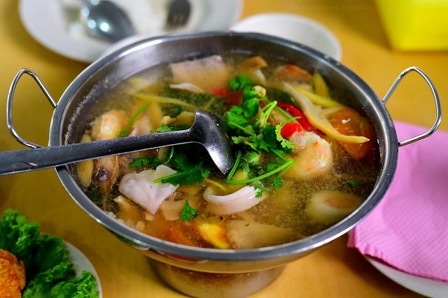 Authentic seafood tomyum
