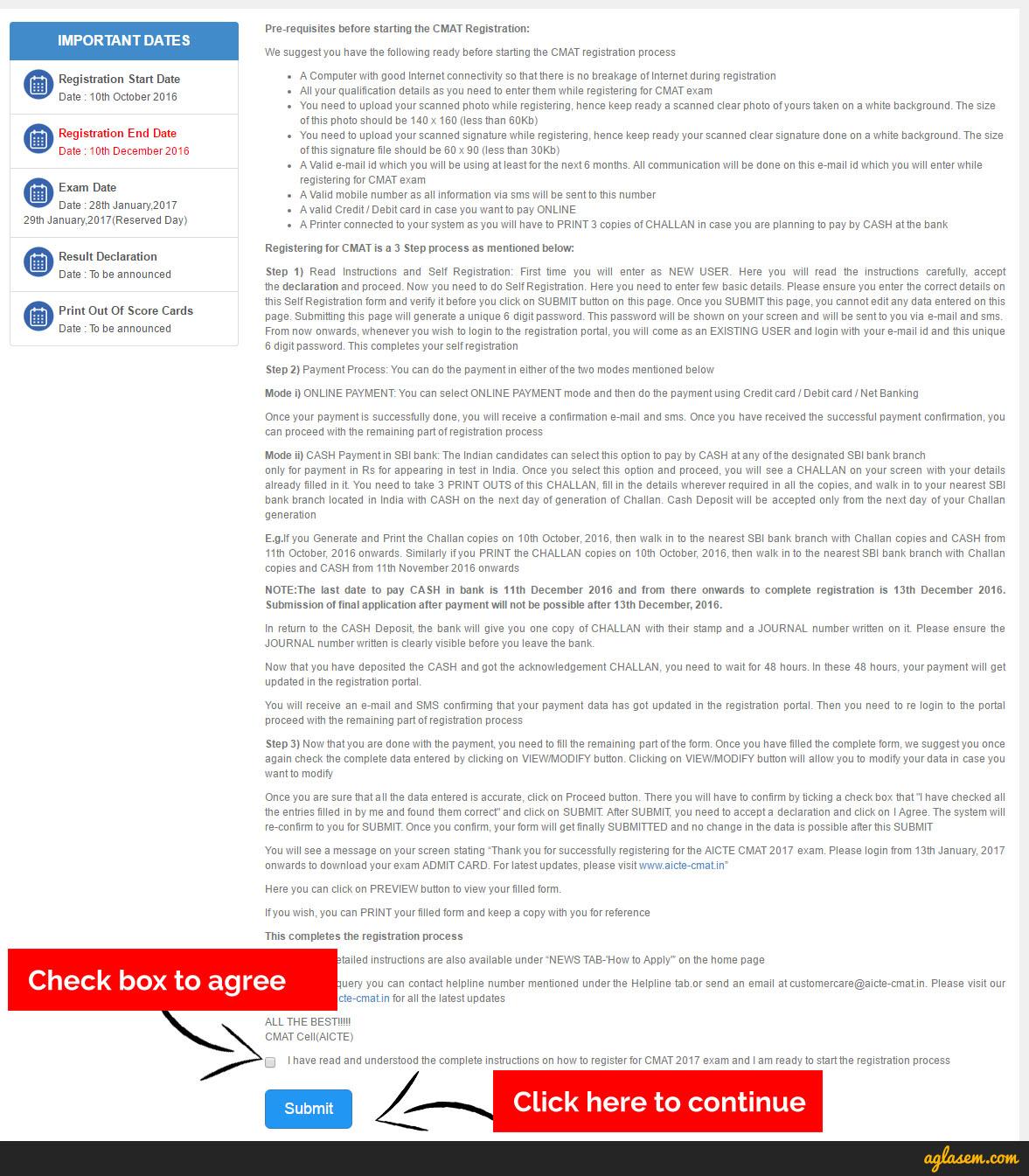 CMAT Application Form 2017