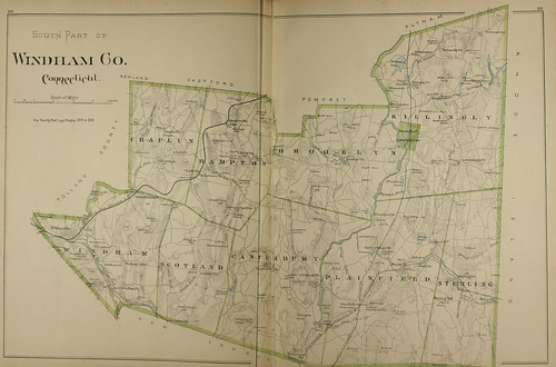 Page 280 & 281 of Town and city atlas of the State of Connecticut. / Compiled from government surveys, county records and personal investigations | by uconnlibrariesmagic