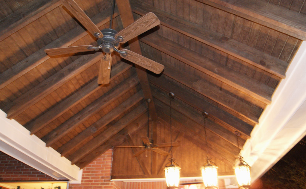 Exposed Rafters With T1 11 Panels Ceiling Finish Texas