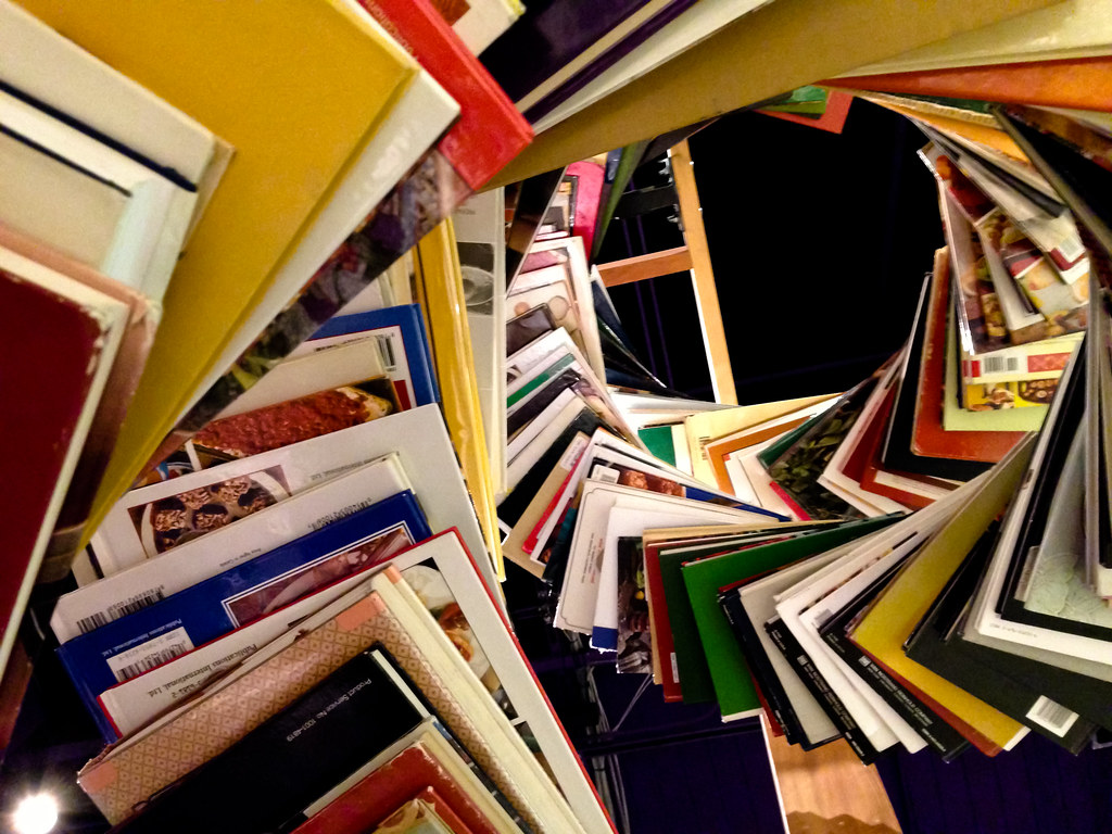 Swirling books