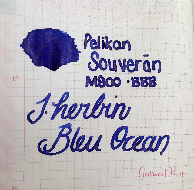 Ink Shot Review J. Herbin Bleu Ocean @BureauDirect (10)