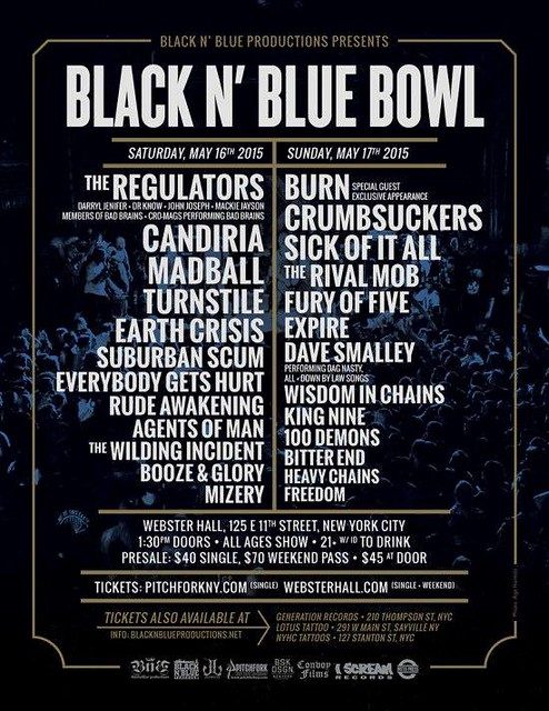 05/15 - 16/15 Black N Blue Bowl 2015 @ Webster Hall, NYC, NY