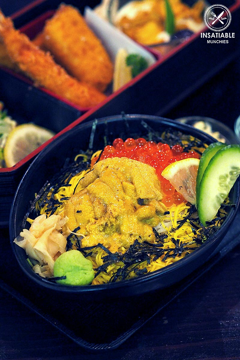 Restaurant Review: Yebisu Izakaya, Sydney CBD. Uni and ikura donburi (part of Hokkaido Gozen Bento)