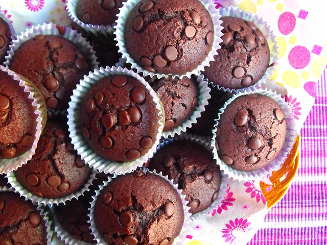 Queques simples de chocolate