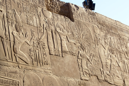 Seti I Reliefs on Great Hypostyle Hall North Wall