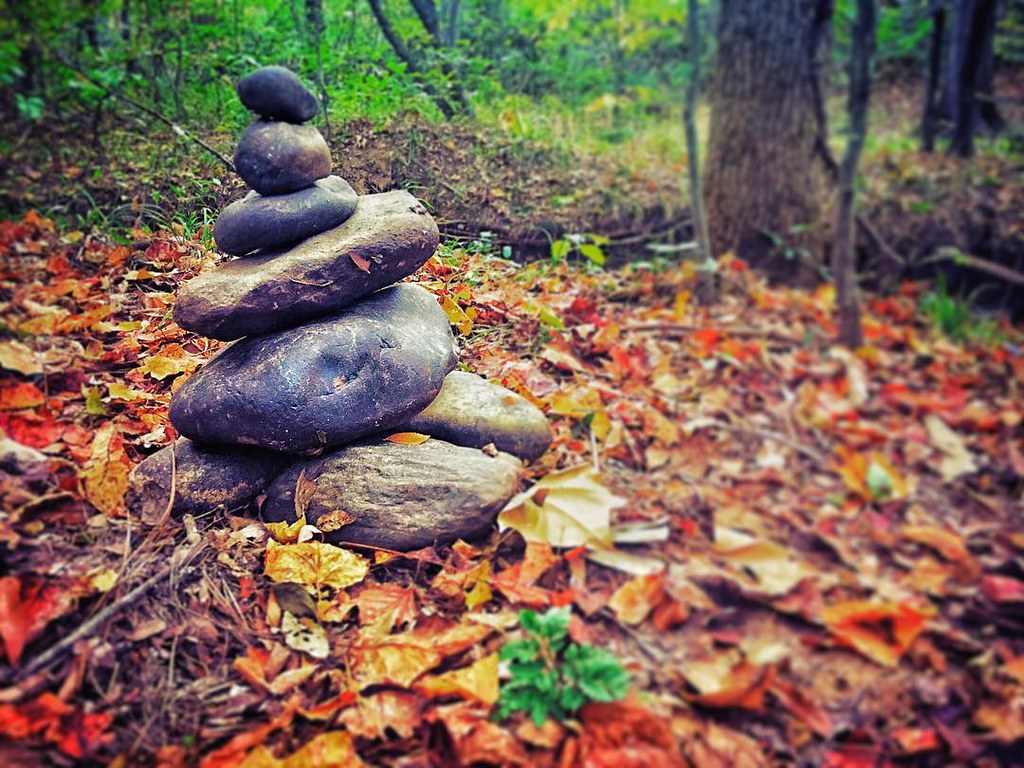 Found a nice stack on a walk by the river #RVA #scenesindr ...