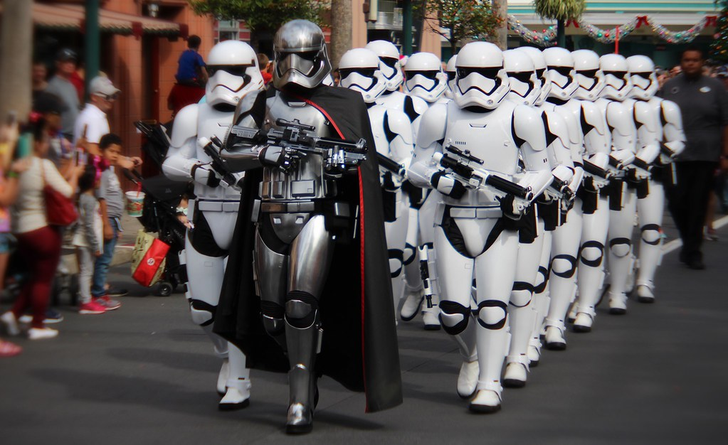 Stormtroopers - Stormtroopers marching down the street at ...
