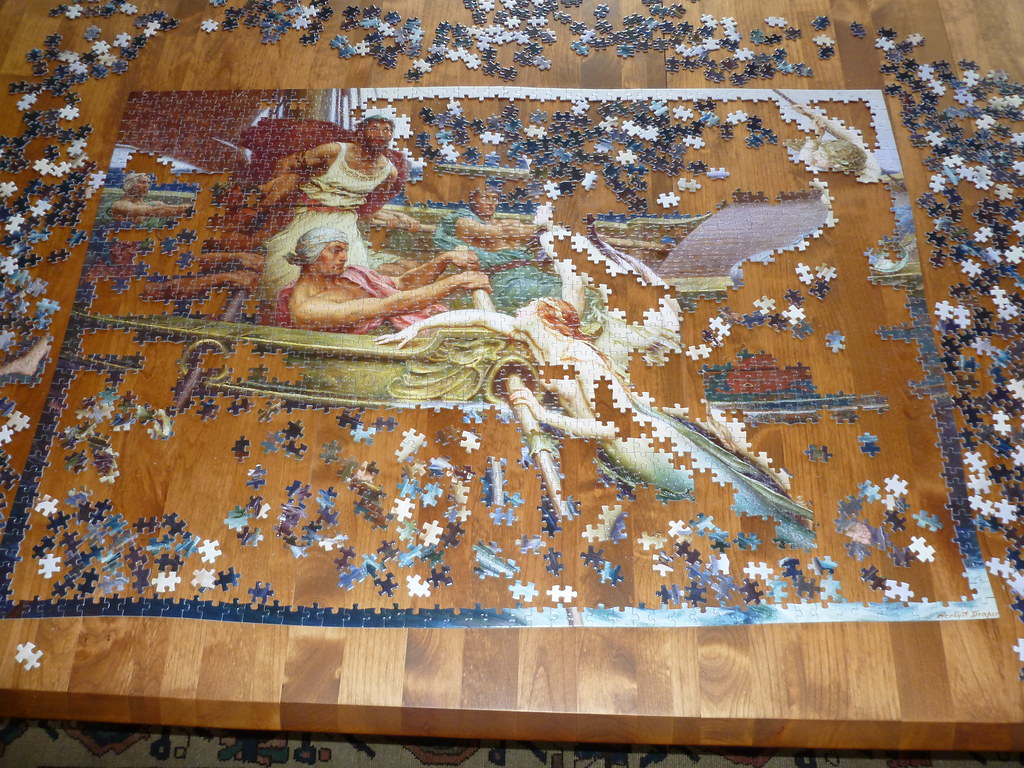 2000 piece puzzle 39 ulysses and the sirenes 39 by herbert d. Black Bedroom Furniture Sets. Home Design Ideas