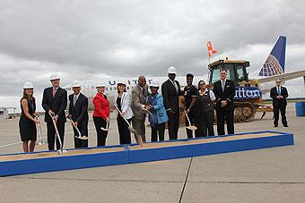 United y Houston Airport System inicio de ampliación Terminal C Norte (Houston Airports)