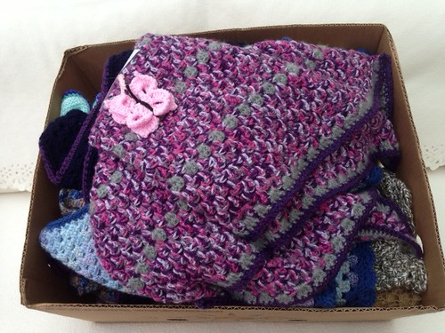 Shawls delivered today to Wythall Care a Home.