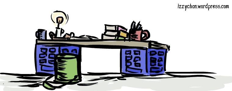 poor man desk