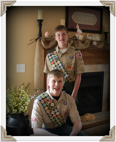 Small Ian and Jacob Eagle Scout Photo