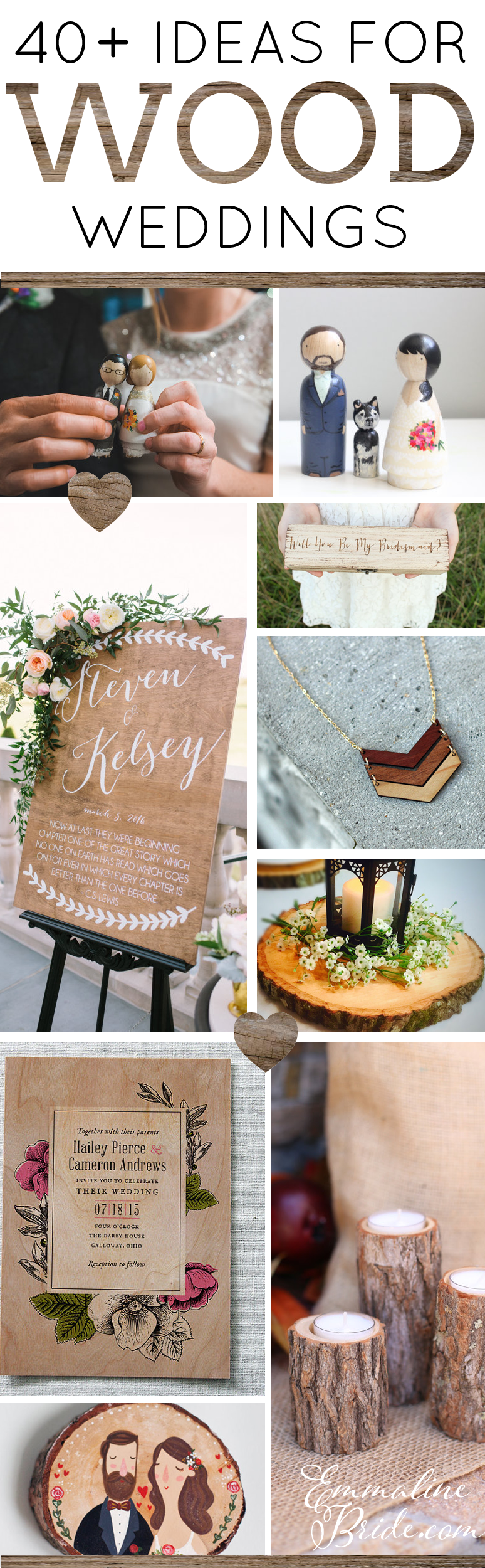 40+ Wood Themed Wedding Ideas by Emmaline Bride | https://emmalinebride.com/themes/wood-themed-wedding-ideas/