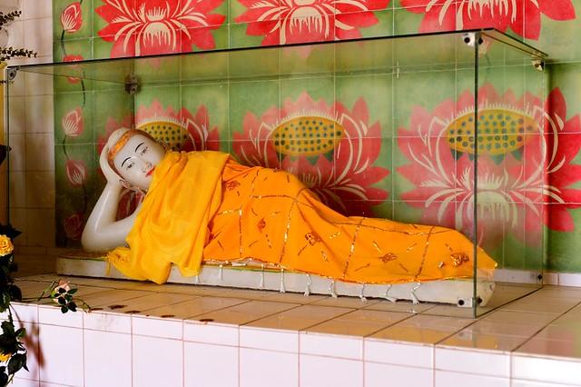 Sleeping Buddha inside the pagoda