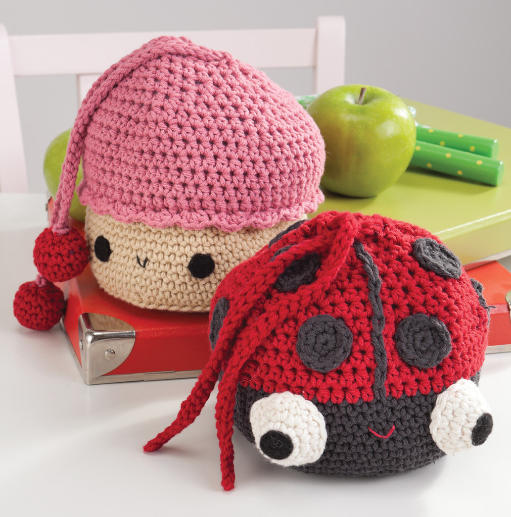 Cupcake and Ladybug Snack Bags From Amigurumi on the Go ...