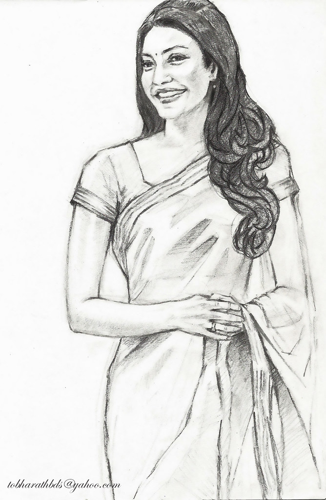 Kajal Pencil Drawing Kajal Agarwal | Flickr Photo
