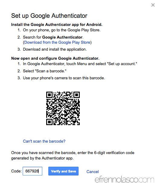 How to add security to google account step 5