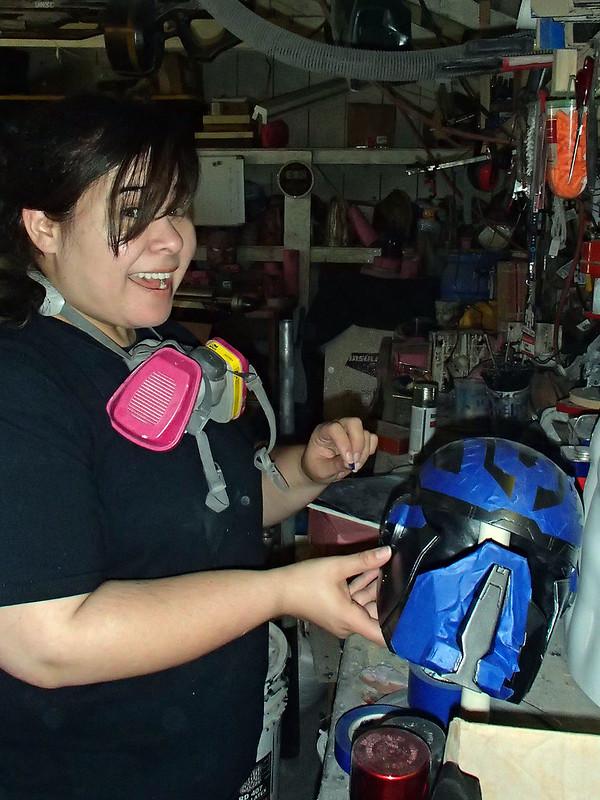 Sarah Masking Shae Helmet