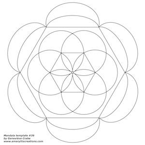 Mandala template 37