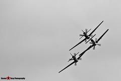 G-BTCD 122-39608 & G-SHWN 122-40417 & G-TFSI 124-44709 - North American P-51D TP-51D Mustang - Duxford, Cambridgeshire - 150523 - Steven Gray - IMG_4800