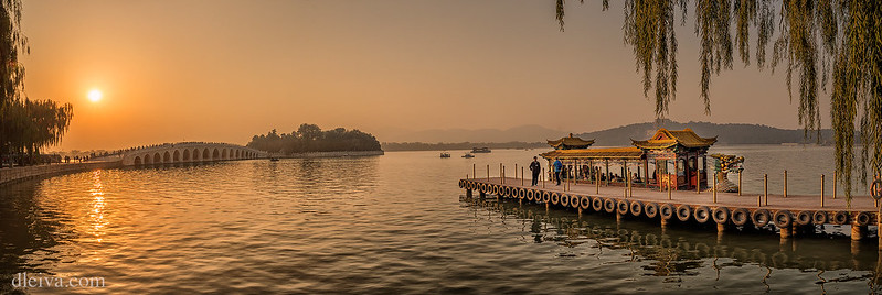 Lake in Summer Palace of Beijing, China